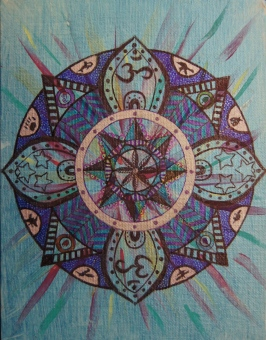 Om and Spirit Animal Mandala