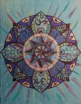 Om and Spirit Animal Mandala